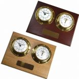 Clock Barometer, Small Marine Style Wall Mounted, Personalised, ref CB02